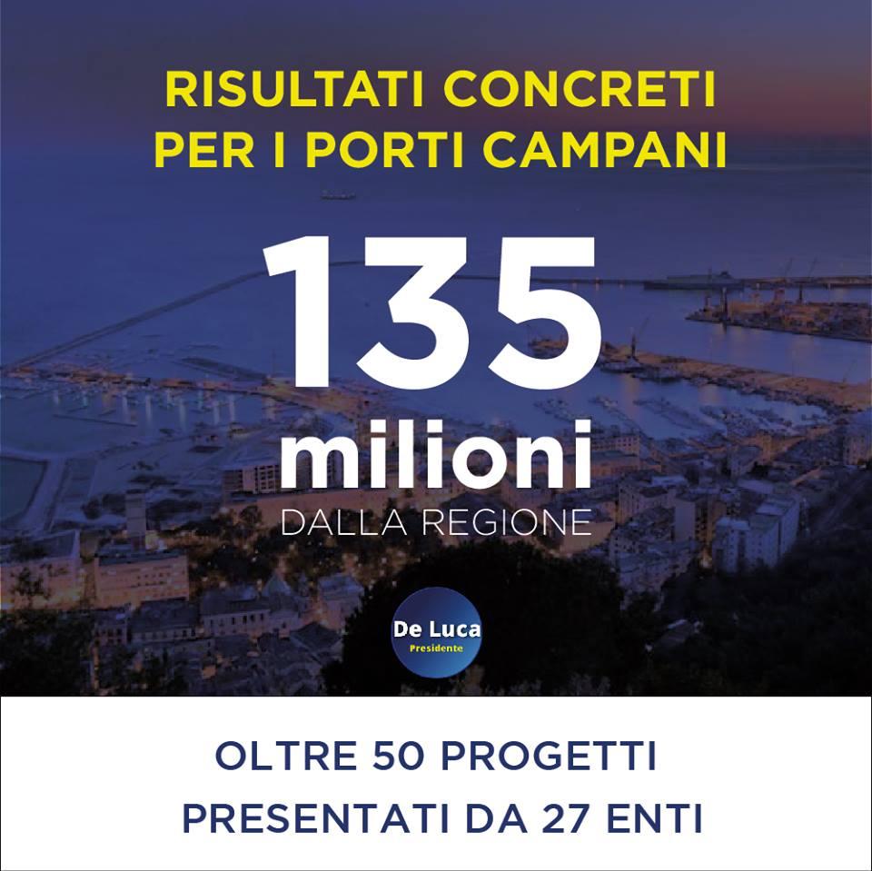 135 milioni per i porti regionali